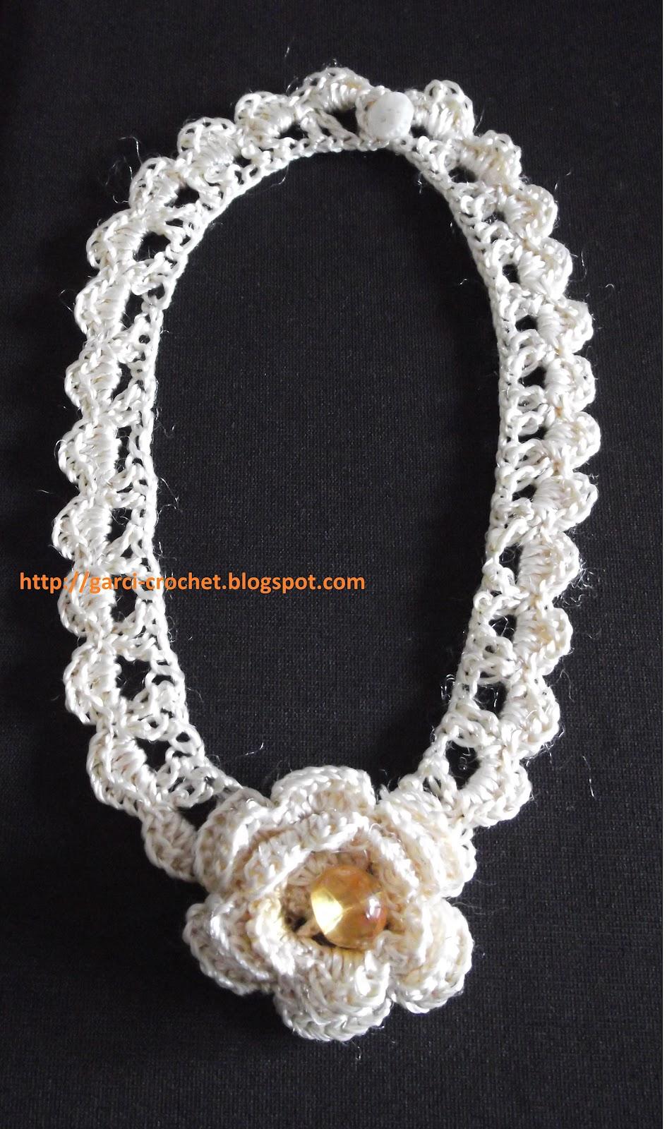 garci crochet bijoux tour de cou au crochet. Black Bedroom Furniture Sets. Home Design Ideas