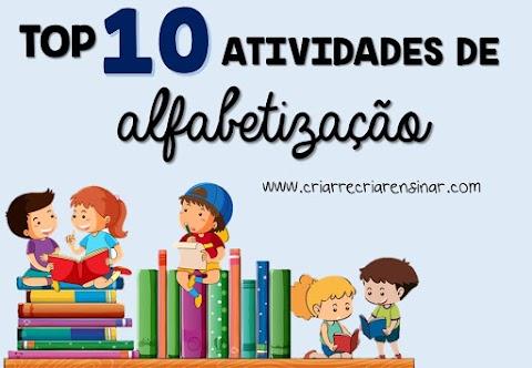 TOP 10 - ATIVIDADE DE ALFABETIZAÇÃO