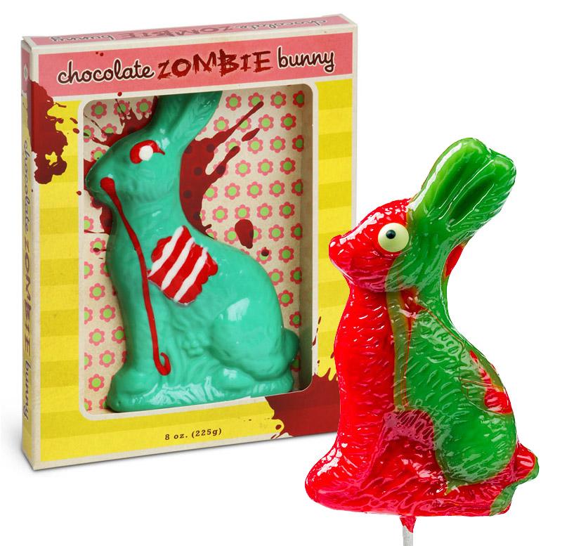 chocolate zombie easter bunny