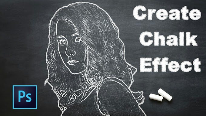 Convert any color images into Realistic Chalk Drawing Effects in Photoshop