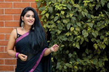Shruthi Selvam Saree Photos