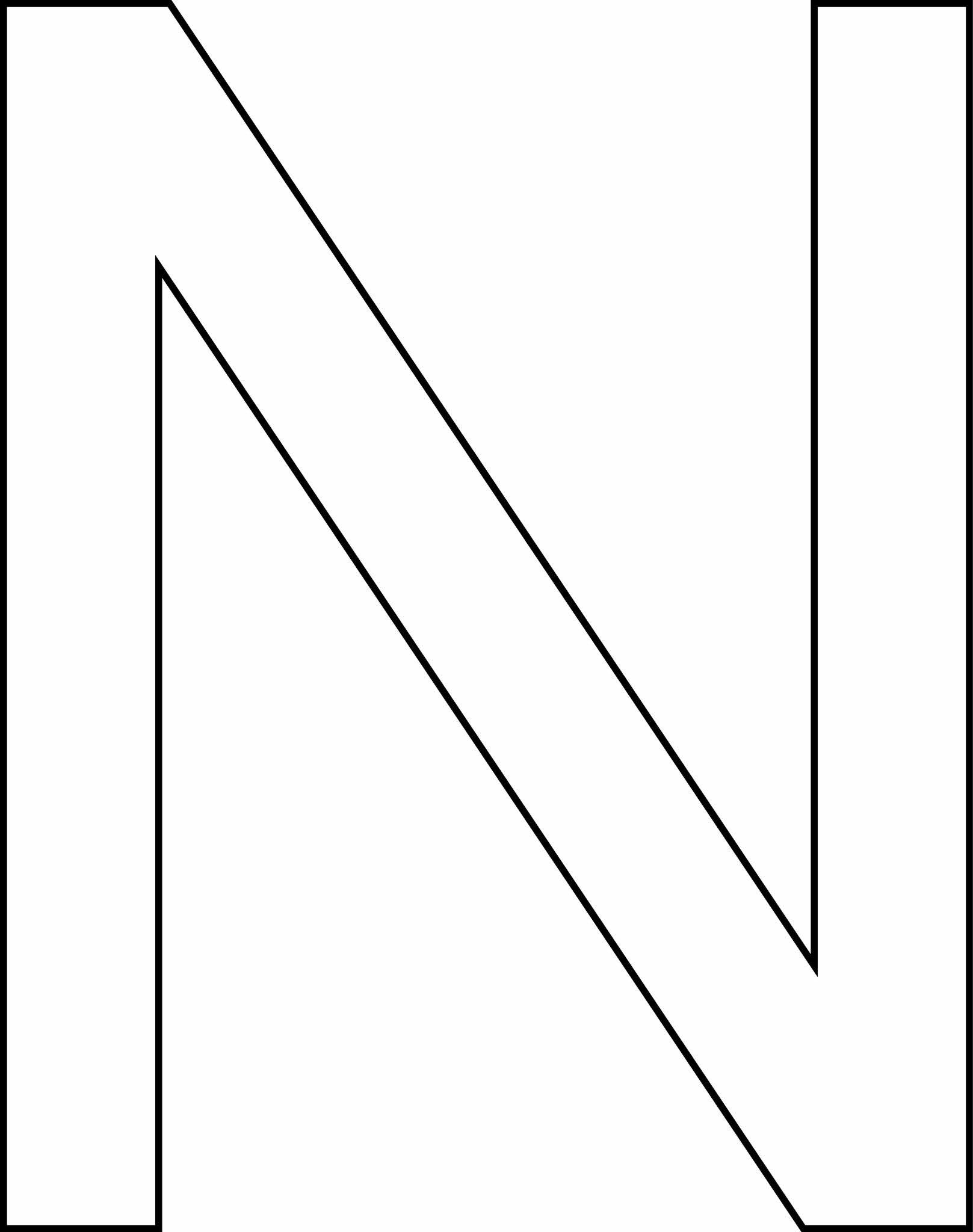 Letra N - maiúscula para imprimir