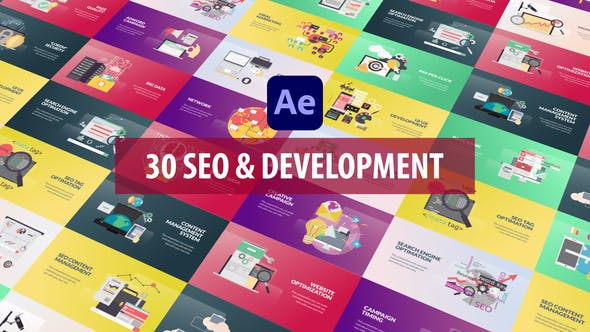 Videohive SEO and Development Animation – After Effects 28809949