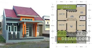 Desain Rumah 9x12 3 Kamar 1 Lantai