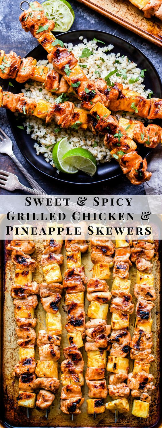 SWEET AND SPICY GRILLED CHICKEN AND PINEAPPLE SKEWERS #recipes #dinnerrecipes #dishesrecipes #dinnerdishes #dinnerdishesrecipes #food #foodporn #healthy #yummy #instafood #foodie #delicious #dinner #breakfast #dessert #lunch #vegan #cake #eatclean #homemade #diet #healthyfood #cleaneating #foodstagram