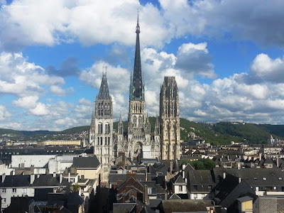 The Roman Catholic Gothic Cathedral in Rouen, France