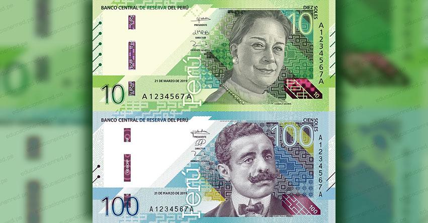 BCRP: Conoce los Billetes de S/ 10 y S/ 100 con nuevos diseños emitidos por el Banco Central de Reserva (CIRCULAR Nº 0017-2021-BCRP)