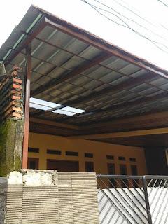 Kanopi Atap genteng Metal di komplek DEPEN cimanggis|Depok