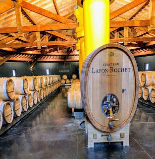 Medoc wine: Barrel room at Chateau Lafon-Rochet