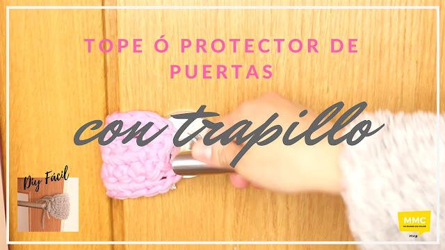 DIY | SUJETA PUERTAS O TOPE HECHO CON TRAPILLO