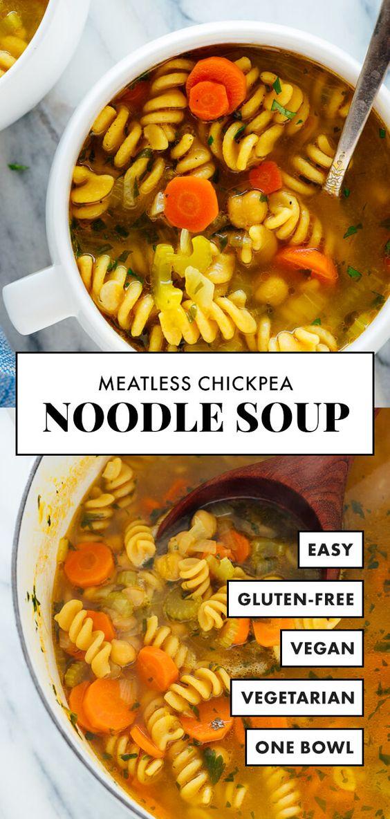 Chickpea Noodle Soup  #Easy #simplirecipe #Instantpot #Bangbang #Shrimp #Pasta #vegan #Vegetables #Vegetablessoup #Easydinner #Healthydinner #Choco #Keto