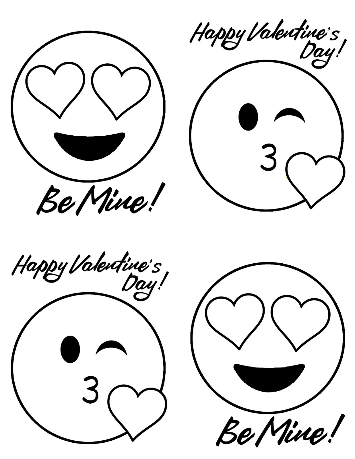 Doodlecraft: Emoji Valentine's with Free Printable!