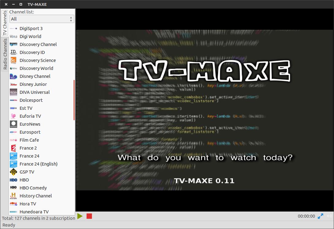 Ubuntu Project : TV-MAXE on Ubuntu