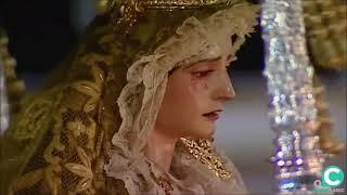 Nuestra Señora de la Amargura por la Plaza del Palillero en la Semana Santa Cádiz 2019