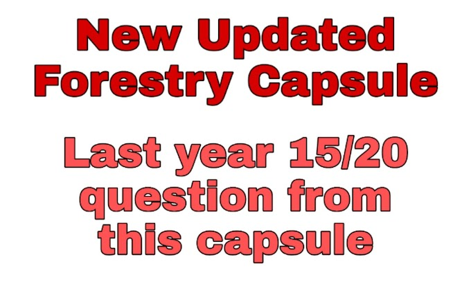 Updated Forestry capsule - 2076 for Bsc. Entrance preparation