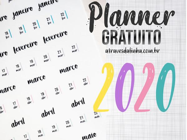 Planner 2020 #6: adesivos para datar seu planner gratuito