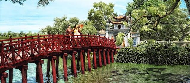 Voyage au Vietnam pour visiter temple Ngoc Son
