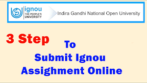 how to submit ignou assignments online
