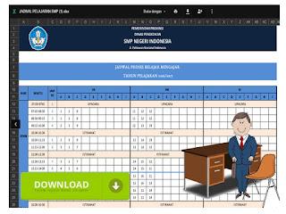 Contoh Format Jadwal Pelajaran SMP Format Excel