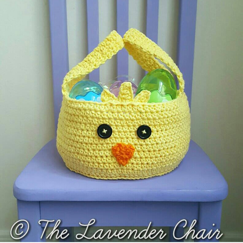 Chickadee Easter Basket - Free Pattern