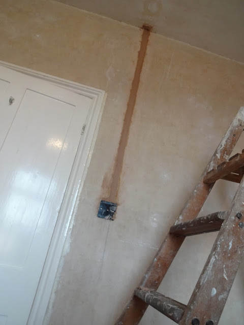 plastering chased out brick