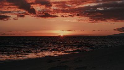 Sunset, Beach, Sea, Dusk, Evening