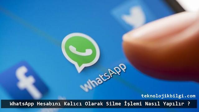 Whatsapp hesabı silme