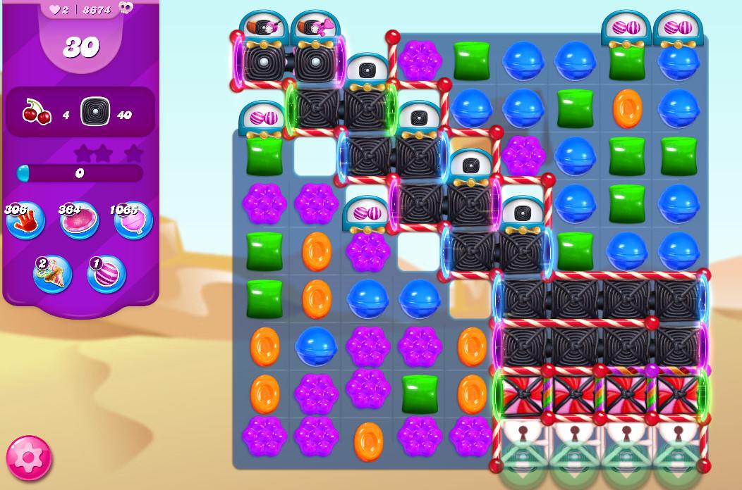 Candy Crush Saga level 8674