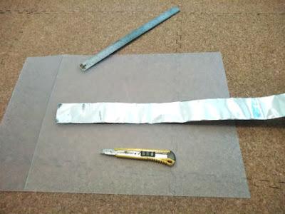 遮光する板の作成で利用した100均グッズと道具