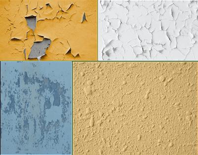 descascaramiento de pintura en paredes