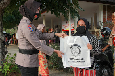 Polwan Polda NTB dan Bhayangkari Nyatakan Sikap Tolak Pekerja Anak di KEK Mandalika