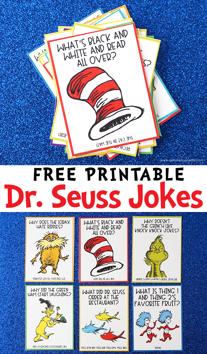 Free Printable Dr. Seuss Jokes for Dr. Seuss Day
