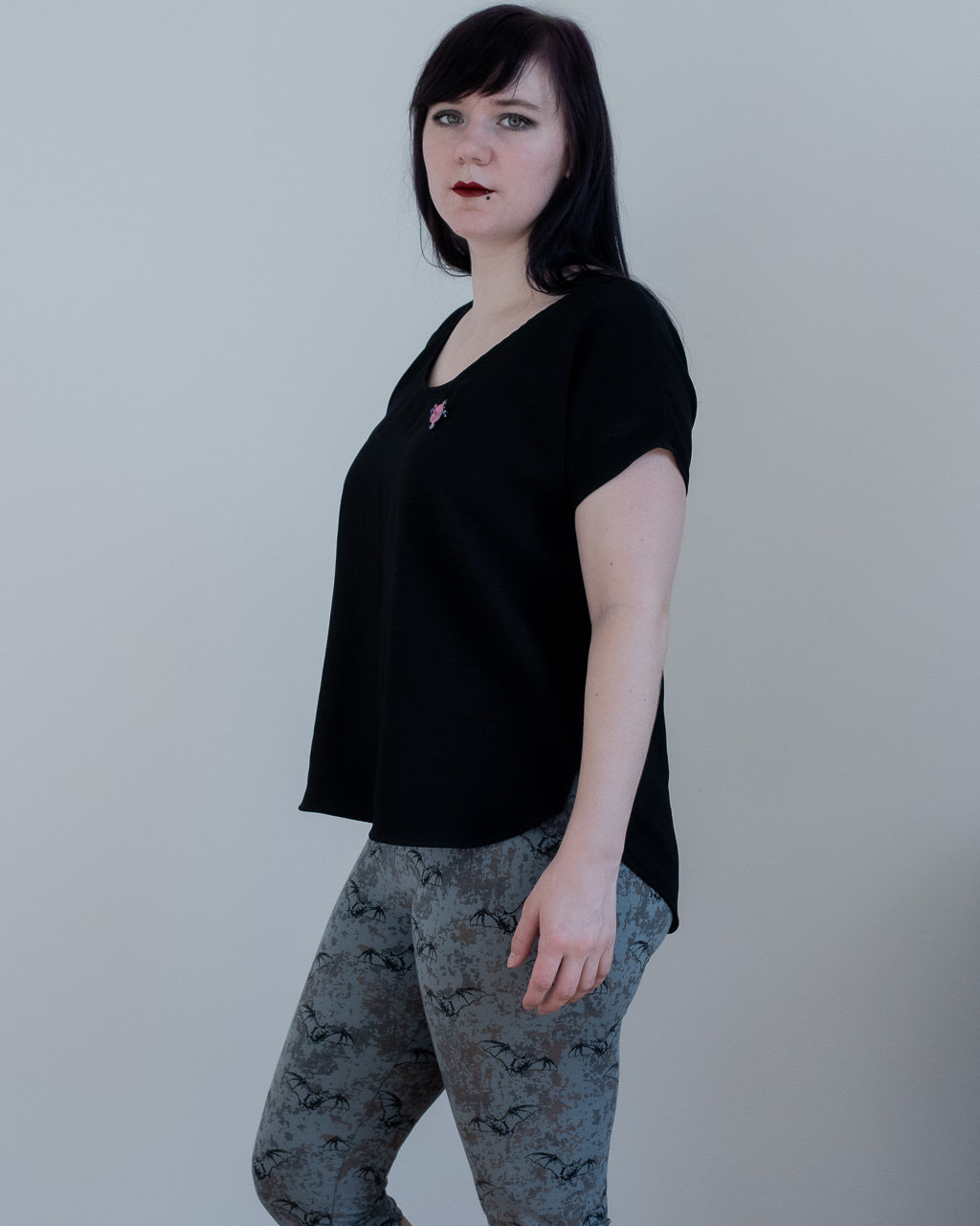minn's things alternative blogger sewing pattern sew diy lou box top front view review oversized shirt dolman sleeves