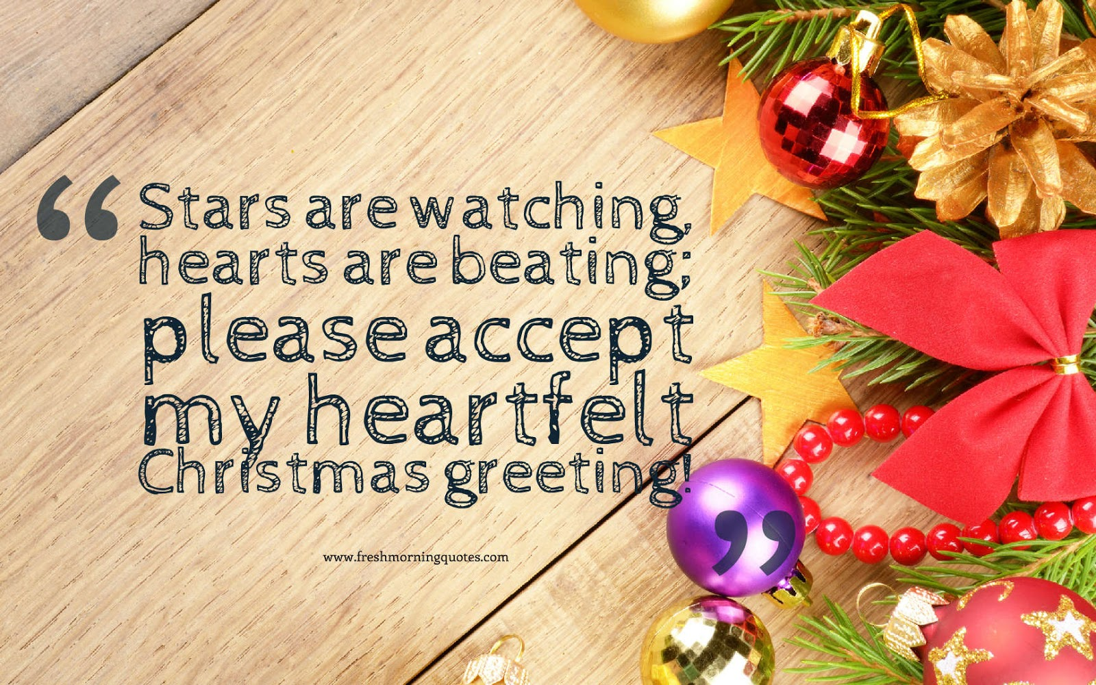 my heartfelt Christmas greetings