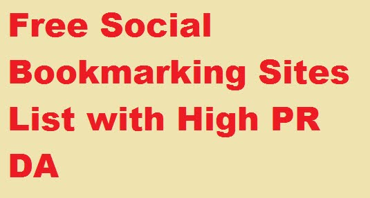 Latest Free Social Bookmarking Submission Sites List 2020
