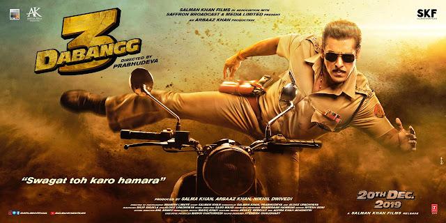 Dabangg 3 poster of Salman Khan
