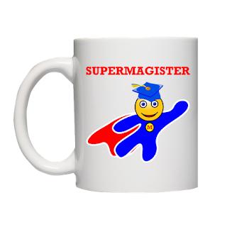 prezent po obrobie pracy magisterskiej - Kubek Supermagister