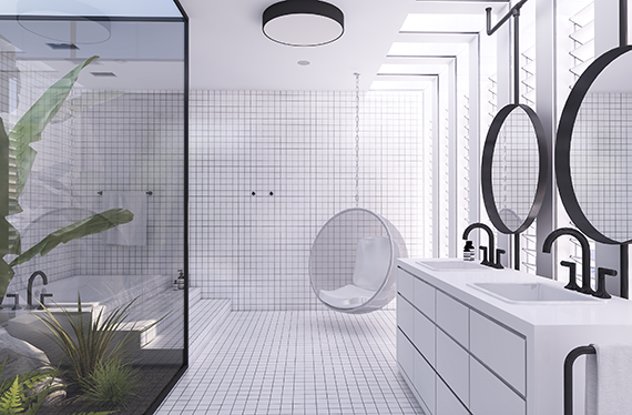 Urban contemporary bathroom | Design by Eleni Psyllaki @myparadissi