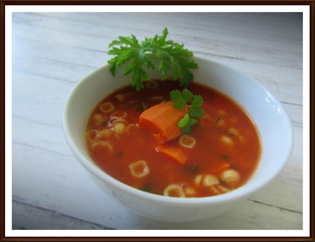 Zupa Pomidorowa na Bazie Mojego Przecieru Pomidorowego