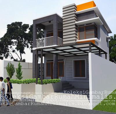 Gambar Desain Rumah Minimalis 2 Lantai 6 X 12