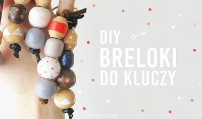 DIY Breloki do kluczy ze starej zasłonki