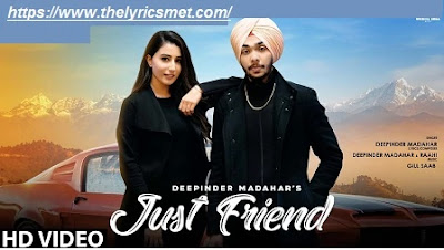 Just Friend Song Lyrics | Deepinder Madahar | New Song 2020 | White Hill Music