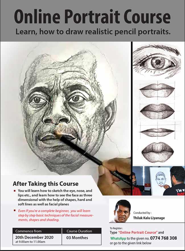 Live Sketching Portrait Course