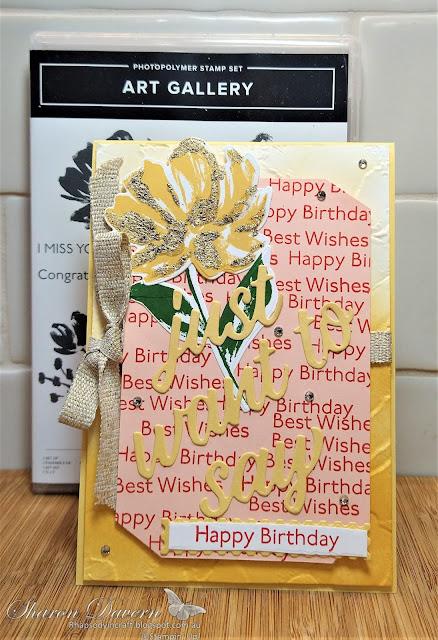 Rhapsody in Craft, So Saffron,Annual Catalogue 2021-21, Fine Art Floral Suite, Art Gallery Bundle, Art Gallery, Floral Gallery Dies,Jan-Jun Mini 2021,Birthday Card,Blending Brushes, Painted Texture 3D embossing folder, #colourcreationsshowcase,