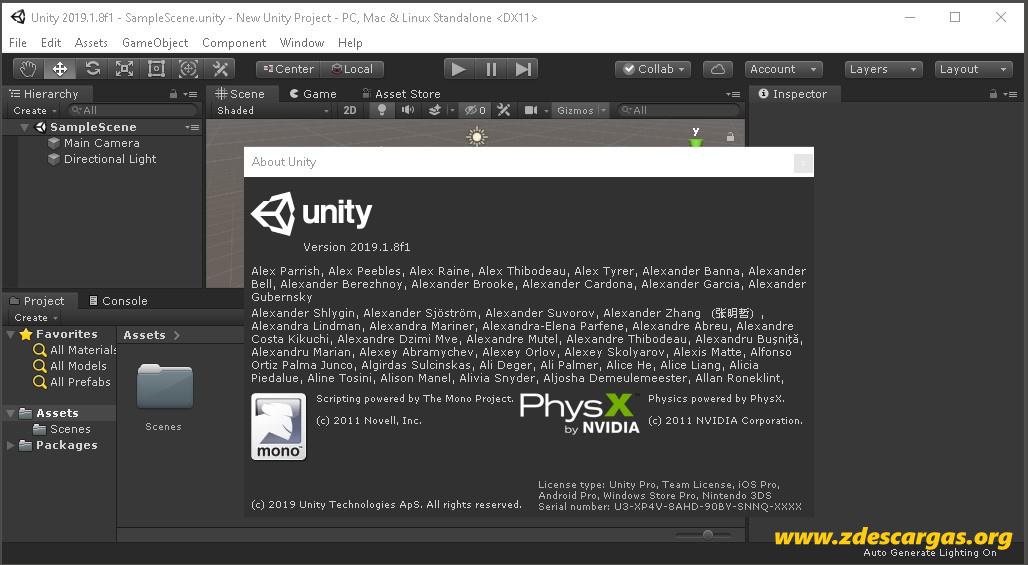 Unity Pro 2019 Full Español