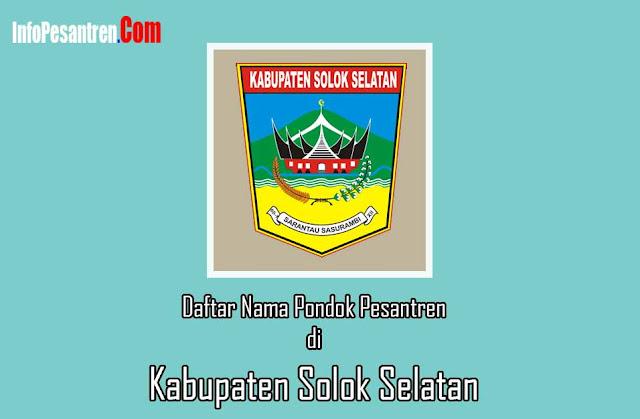 Pesantren di Kabupaten Solok Selatan
