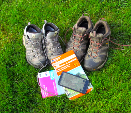 Good boots, a map, and a navigation app are recommended