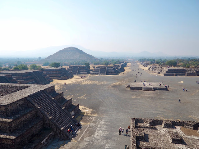 View from the Pyramid of the Moon, Teotihuacan, Mexico City, Mexico