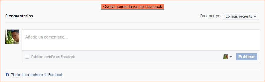 ¿Cómo colocar los comentarios de Facebook en Blogger?