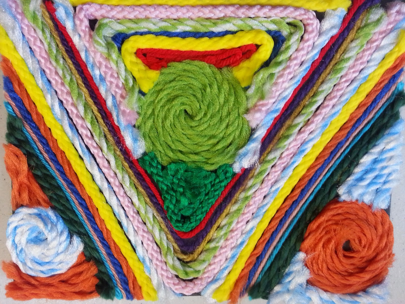 We Care Arts Mexican Yarn Painting